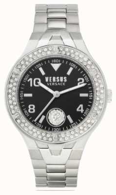 Versus Versace Женская виттория | браслет из нержавеющей стали | черный циферблат VSPVO0520