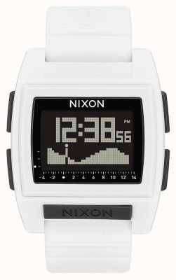 Nixon Base tide pro | белый | цифровой | белый силиконовый ремешок A1212-100-00