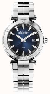 Michel Herbelin Ньюпорт для мужчин | браслет из нержавеющей стали | синий циферблат 12288/B15
