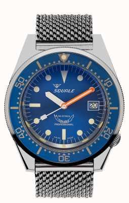 Squale 1521 сетка океана | синий циферблат | браслет из нержавеющей стали 1521OCN-CINSS20