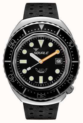 Squale 2002a черные круглые точки | черный ремешок в стиле тропиков | черный циферблат B083401-CINTRB22