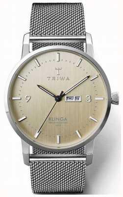 Triwa Клинга мужская стальная сетка | циферблат шампанского KLST108-ME021212
