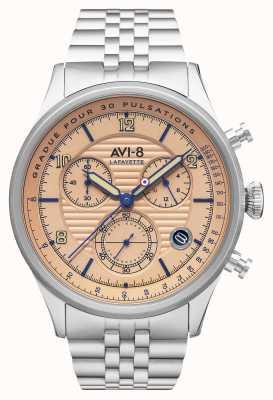 AVI-8 Flyboy lafayette | хронограф | браслет из нержавеющей стали AV-4076-44