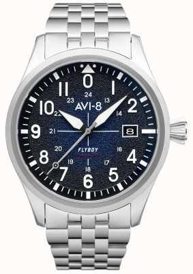 AVI-8 Flyboy | автоматический | синий циферблат | браслет из нержавеющей стали AV-4075-22