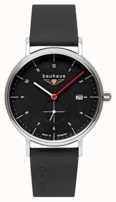 Bauhaus Ремешок из итальянской кожи | черный циферблат 2130-2