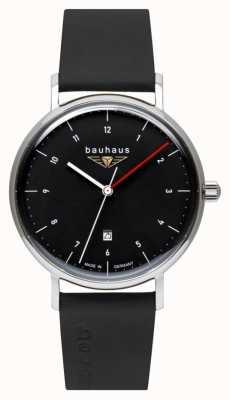 Bauhaus Ремешок из итальянской кожи | черный циферблат 2140-2