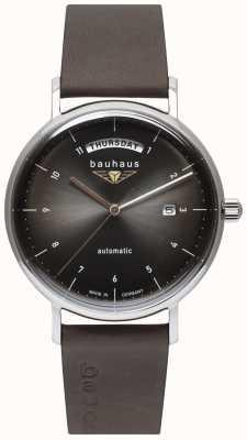 Bauhaus Ремешок из итальянской кожи | черный циферблат | автоматический | день / дата 2162-2