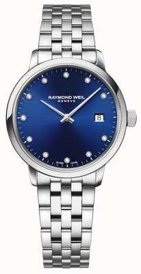 Raymond Weil Токката | 11 бриллиантовый синий циферблат | браслет из нержавеющей стали 5985-ST-50081