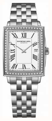 Raymond Weil Токката | алмаз | белый циферблат | браслет из нержавеющей стали 5925-STS-00300