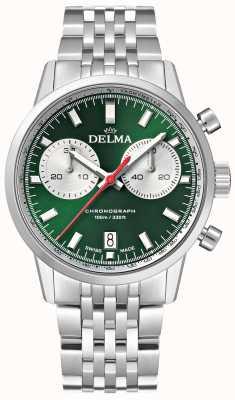 Delma Континентальный хронограф | браслет из нержавеющей стали | зеленый циферблат 41701.704.6.141