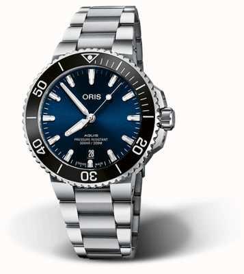 ORIS Aquis date 41,5 мм синий циферблат браслет из нержавеющей стали 01 733 7766 4135-07 8 22 05PEB