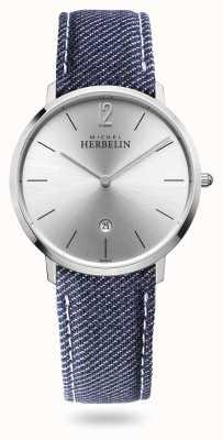 Michel Herbelin Город | джинсовый ремешок | серебряный циферблат 19515/11JN