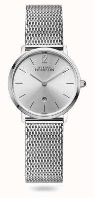 Michel Herbelin Город | серебряный циферблат | браслет из нержавеющей стали 16915/11B