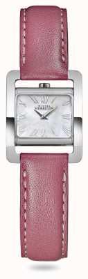 Michel Herbelin V авеню | розовый кожаный ремешок | перламутровый циферблат 17037/09ROZ