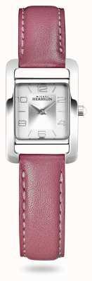 Michel Herbelin V авеню | розовый кожаный ремешок | серебряный циферблат 17437/21ROZ