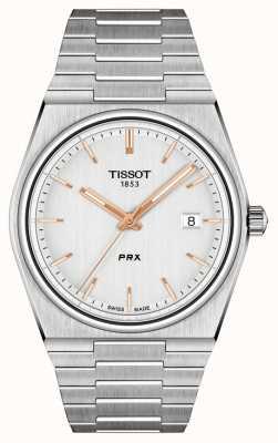 Tissot Мужской кварцевый серебряный циферблат prx 40 мм T1374101103100