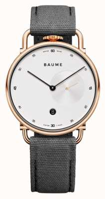 Baume & Mercier Baume | экологичный кварц | белый циферблат | ремешок из серой пробки M0A10600