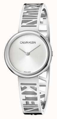 Calvin Klein Мания | браслет из нержавеющей стали | серебряный циферблат | размер m KBK2M116
