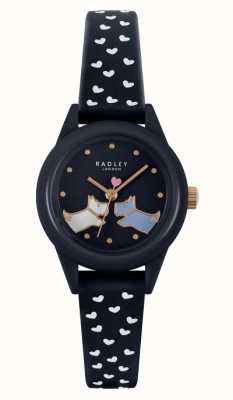 Radley Смотрите! | женский силиконовый ремешок темно-синего цвета | темно-синий циферблат RY21262