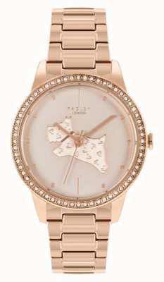 Radley | женские | стальной браслет с покрытием из розового золота | циферблат из розового золота с принтом собак | RY4556