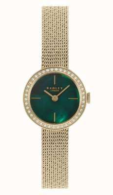 Radley | женские | позолоченный браслет из сетки | зеленый перламутровый циферблат | RY4568