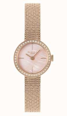 Radley | женские | браслет из сетки с покрытием из розового золота | розовый перламутровый циферблат | RY4570