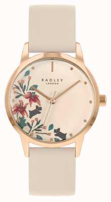 Radley Женский кожаный ремешок телесного цвета | телесный цветочный циферблат RY21260A