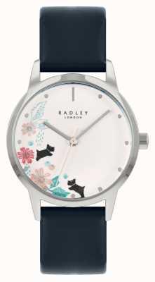 Radley Женский кожаный ремешок синего цвета | белый цветочный циферблат RY21229A
