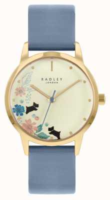Radley Женский кожаный ремешок синего цвета | циферблат шампанского RY21230A