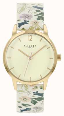 Radley Женский кожаный ремешок с белым цветочным принтом | циферблат шампанского RY21232A