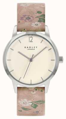 Radley Женский кожаный ремешок с розовым цветочным принтом | кремовый циферблат RY21231A