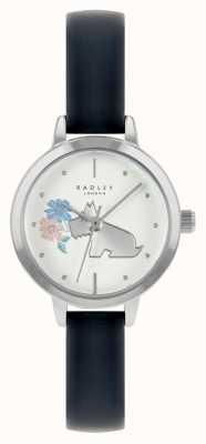 Radley Женский кожаный ремешок синего цвета | белый циферблат RY21237A