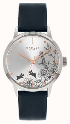 Radley | женские | синий кожаный ремешок | серебряный циферблат | RY21241A