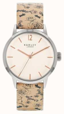 Radley | женские | кожаный ремешок с бежевым узором | белый циферблат | RY21245A