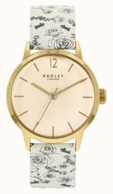 Radley Женский кожаный ремешок с кремовым узором | кремовый циферблат RY21248A