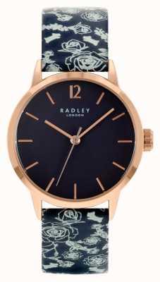 Radley Женский черный кожаный ремешок | черный циферблат RY21250A