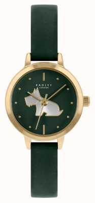 Radley Женский кожаный ремешок зеленого цвета | зеленый циферблат RY21256A