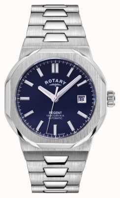 Rotary Мужские   регент   автоматический   синий циферблат   браслет из нержавеющей стали GB05410/05