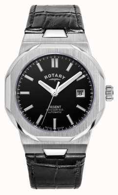 Rotary Мужские | регент | автоматический | черный циферблат | черный кожаный ремешок GS05410/04