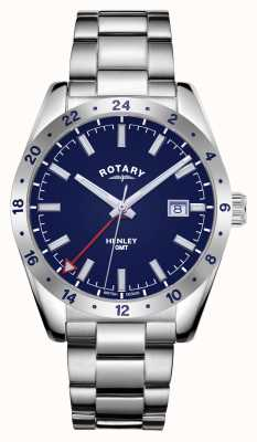 Rotary Мужские | Хенли | gmt | синий циферблат | браслет из нержавеющей стали GB05176/05