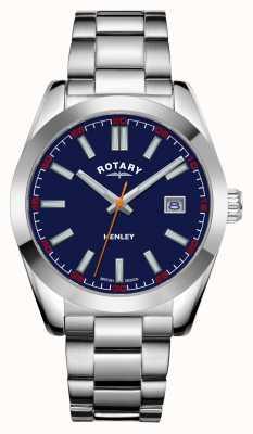 Rotary Мужские | Хенли | синий циферблат | браслет из нержавеющей стали GB05180/05