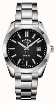 Rotary Женские | Хенли | черный циферблат | браслет из нержавеющей стали LB05180/04