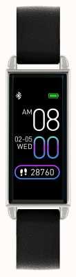 Reflex Active Умные часы Series 2 | цветной сенсорный экран | черный кожаный ремешок RA02-2007