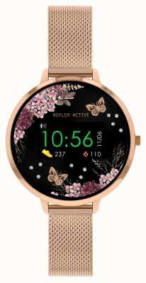 Reflex Active Умные часы Series 3 | сетчатый ремешок из нержавеющей стали из розового золота RA03-4038