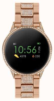 Reflex Active Умные часы Series 4 | цветной сенсорный экран | браслет из нержавеющей стали из розового золота с камнями RA04-4014
