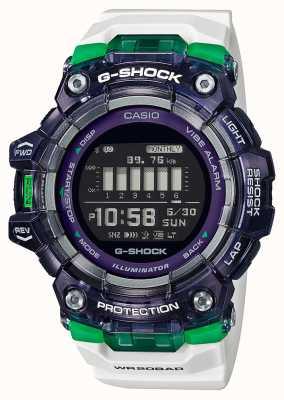 Casio G-шок | спортивная жизненная серия | белый силиконовый ремешок | черный циферблат | блютуз GBD-100SM-1A7ER