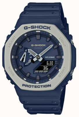 Casioak | ремешок из синей смолы | синий циферблат GA-2110ET-2AER