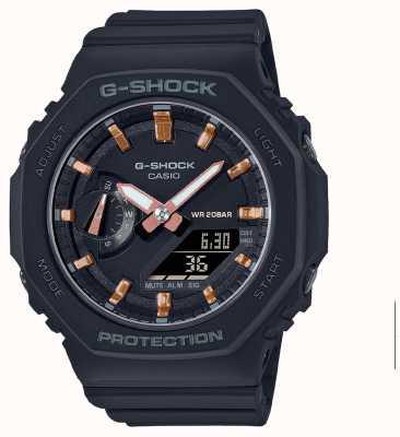 Casio Амортизатор среднего размера | ремешок из черной смолы | черный циферблат GMA-S2100-1AER