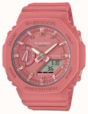 Casio Амортизатор среднего размера | ремешок из смолы розового цвета | розовый циферблат GMA-S2100-4A2ER