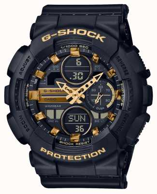 Casio Спорт унисекс | g-шок | ремешок из черной смолы | черный дал | GMA-S140M-1AER